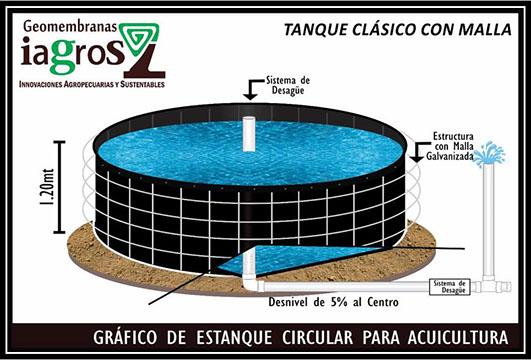 Geomembranas iagros servicios for Estanques de geomembrana para tilapia